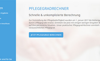 Pflegegradrechner Screenshot